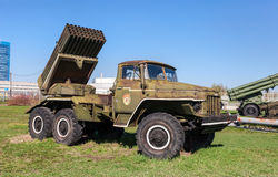 BM-21 Grad 122-mm Multiple Rocket Launcher Stock Image