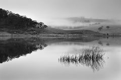 BM Lake Lyell BLue Rise BW Stock Photos