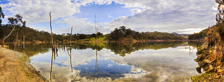 BM Lyell Blue Clouds Hole Pan Stock Images