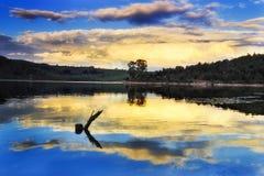 BM Lyell BLue Clouds Symmetr Stock Photos