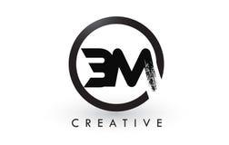BM muśnięcia listu loga projekt Kreatywnie Oczyszczony list ikony logo royalty ilustracja