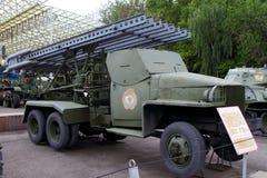 BM-13N卡秋沙根据我们的多管火箭炮苏联 库存图片