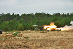 BM-27 Uragan missile launcher Stock Photography