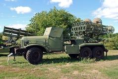 BM-31 van Andryush op basis zis-151 Technisch museum K G Sakharova Togliatti Stock Fotografie