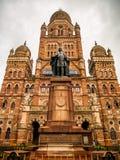BMC市政大厦在孟买市,印度 英国architectu 免版税库存图片