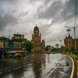 BMC市政大厦在孟买市,印度 英国architectu 库存图片