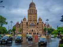 BMC市政大厦在孟买市,印度 库存照片