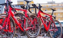 BMC赛跑的队自行车 免版税库存照片