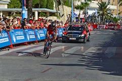 BMC danneggiato Rider Samuel Sanchez Fotografie Stock