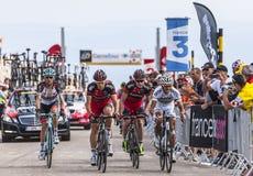 BMC drużyna Wspina się Mont Ventoux Obrazy Stock