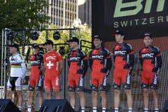 BMC Fachmann-Radsportteam Stockfotografie
