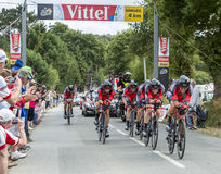 BMC Racing Team - The Winner of Team Time Trial 2015 Royalty Free Stock Photos