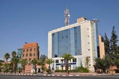 BMCE Querneigung in Marrakesch Lizenzfreie Stockfotografie