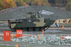 BMD-4M. NIZHNY TAGIL, RUSSIA - SEP 26, 2013: The international exhibition of armament, military equipment and ammunition RUSSIA ARMS EXPO (RAE-2013). The arborne Stock Image