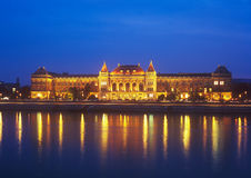 BME at night. Budapest University of Technology and Economics at night Royalty Free Stock Images