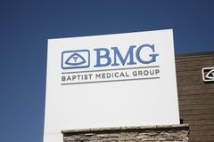BMG Family Physicians Group Sign White Royalty Free Stock Photos
