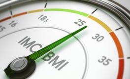 BMI, índice de massa corporal ilustração royalty free