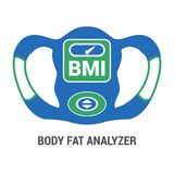 BMI Body Fat Analyzer Icon Illustration Isolated. Vector for Weight Loss royalty free illustration