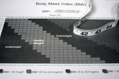 BMI Diagramm Stockbilder