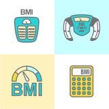 BMI eller symboler för index för kroppmass Royaltyfria Foton