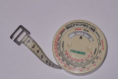 BMI kalkulator Fotografia Stock