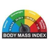 BMI ou carta de Infographic do índice de massa corporal ilustração royalty free