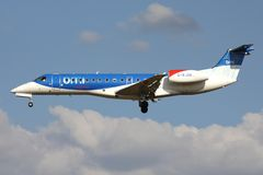 Bmi regionaal Embraer erj-135 royalty-vrije stock foto's