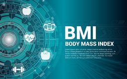 BMI and Weight Loss Banner Background. Vector vector illustration