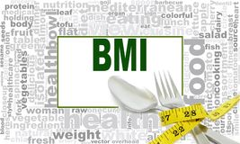 BMI word cloud stock illustration