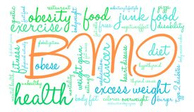 BMI Word Cloud. On a white background Stock Image