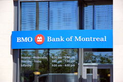 BMO - Bank of Montreal. The Bank of Montreal sign outside a branch in Toronto Royalty Free Stock Image