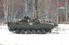 BMP-2. Infantry vehicle combat BMP-2 in a boot camp of russian army, 2011 Stock Photo