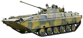 BMP 2 - Véhicule de combat soviétique sur le blanc Photographie stock