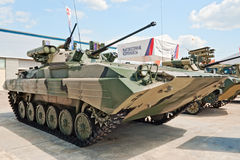BMP-2M. ZHUKOVSKY, RUSSIA - JULY 1: BMP-2M Berezhok IFV is displayed on the Forum ET-2012 on July 01, 2012 in Zhukovsky, Russia Royalty Free Stock Image