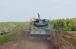 BMP-3 IFV采取高度 库存照片