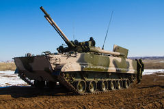 Bmp 3 armored vehicle. Russian tracked fighting vehicle at the landfill Royalty Free Stock Image