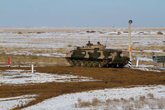 Bmp 3 armored vehicle. Russian tracked fighting vehicle at the landfill Stock Photo