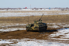 Bmp 3 armored vehicle. Russian tracked fighting vehicle at the landfill Stock Images