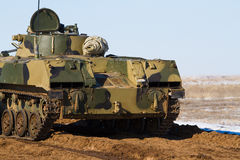 Bmp-3 armored vehicle. Russian tracked fighting vehicle at the landfill Royalty Free Stock Photography