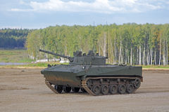 BMP-3 infantry combat vehicle. MILITARY GROUND ALABINO, MOSCOW OBLAST, RUSSIA - SEP 10, 2016: The BMP-3 infantry combat vehicle is a amphibious infantry fighting Stock Photos