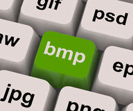Bmp Key Shows Bitmap Format For Images. Bmp Key Showing Bitmap Format For Images Royalty Free Stock Photo