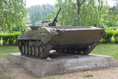 BMP-1 at the memorial to soldiers-internationalists in Velsk, Arkhangelsk region. Russia Stock Photo