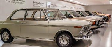 "BMW博物馆†""9月18日:葡萄酒在BMW博物馆的汽车显示:2016年9月18日的汽车展示会在慕尼黑德国 免版税库存图片"