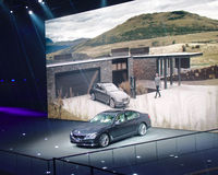 BMW展示在IAA汽车的7系列 库存照片