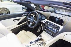 BMW汽车内部 免版税库存图片