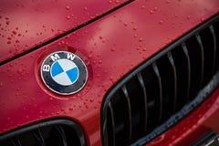 BMW红色商标 免版税库存图片