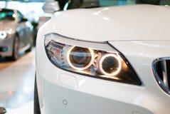 BMW车灯 免版税库存图片