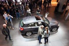 BMW 1 σειρά στο IAA 2015 στον κεντρικό αγωγό της Φρανκφούρτης Στοκ φωτογραφία με δικαίωμα ελεύθερης χρήσης