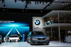 BMW όλα οι νέα 5 σειρές και 740 LE xDrive καθαρό Exellence στην επίδειξη στοκ εικόνα