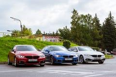 BMW автомобилей 4 серии, немецкий баварский изготовитель Стоковые Фото